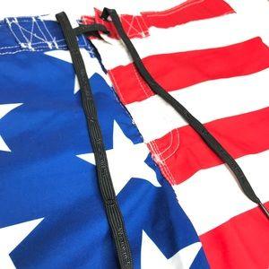 Hang Ten Swim - Hang Ten American Flag Swim Board Shorts A170441